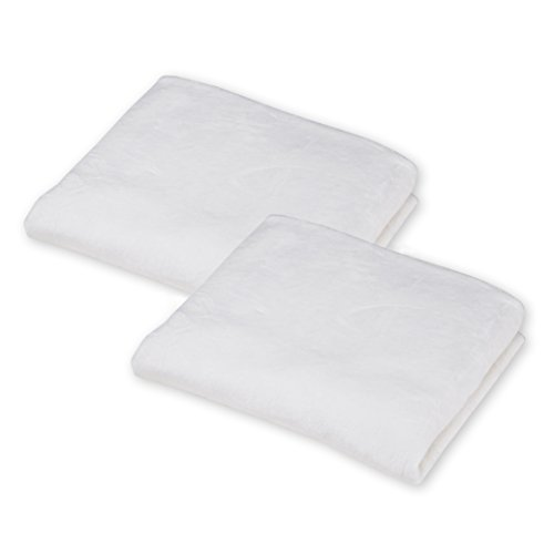 American Baby Company 2 Pack Heavenly Soft Chenille Fitted Crib Sheet for Standard Crib and Toddler Mattresses, White, 28