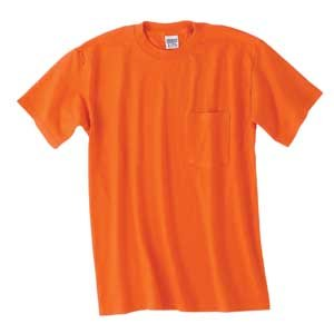 /50 Ultra Blend Pocket Tee Shirt, L, WHITE (50 Ultra Blend Pocket)
