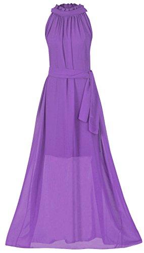 (Howriis Women's Chiffon Wedding Party Bridesmaid Formal Dress (One Size, Light Purple))