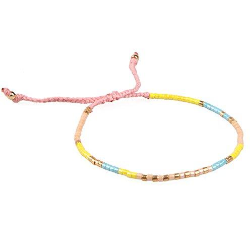 53b450619b5ab KELITCH 2 Pcs Silver Beads Chain Leather Woven Bracelets Handmade ...