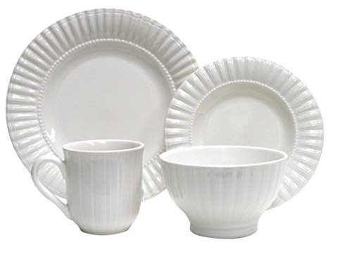 (Thomson Pottery 16−pc Masion White Dinnerware Set)