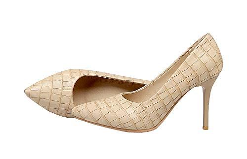 Alto Tacco Donna Allhqfashion Puro Fbuidd006915 flats Ballet Luccichio Albicocca Tirare UTEAnwHx