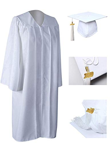 GraduationRoyal Unisex Adult Matte Graduation Gown Cap Tassel with 2019 Year Charm For High School and College -