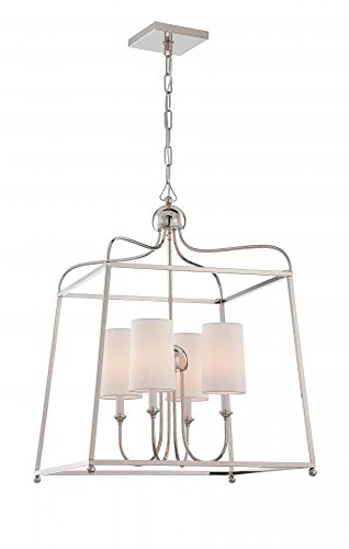 Lighting Heart Transitional Chandelier (Crystorama 2244-PN Transitional Four Light Chandelier from Libby for Crystorama:Sylvan collection in Chrome, Pol. Nckl.finish,)