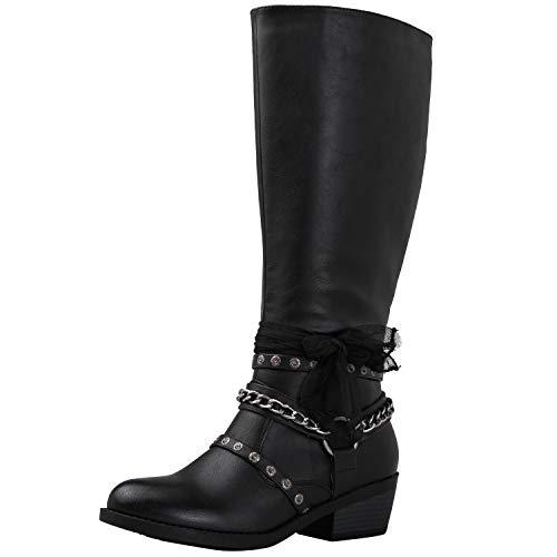 Globalwin Women's 18YY25 Knee-High Fashion Boots