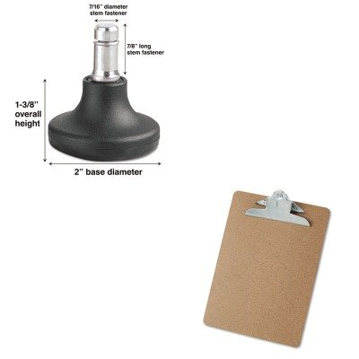 KITMAS70178UNV40304 - Value Kit - Master Caster Bell Glides (MAS70178) and Universal 40304 Letter Size Clipboards (UNV40304)