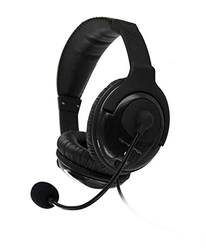 TekNmotion TM-YB100P Yapster Plus Headset for PC, MAC, Tablets and Smartphones, Black