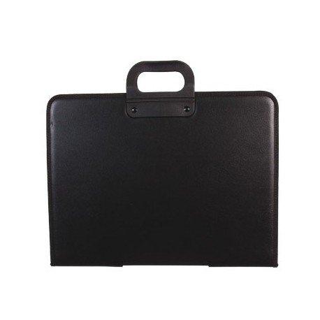 Q-Connect Cartera Portadocumentos Negra Con Asa Con Cremallera Din A3 420X297 Mm: Amazon.es: Oficina y papelería