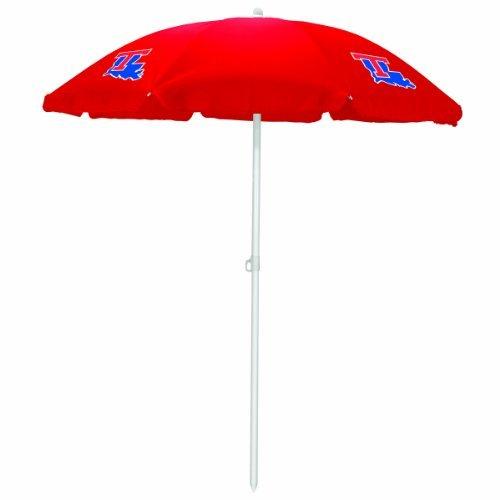NCAA Louisiana Tech Bulldogs Portable Sunshade Umbrella by Picnic Time by PICNIC TIME