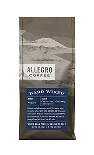 (2) 12 Oz. Bags of Allegro Whole Bean Coffee - Hard Wired Blend by Allegro