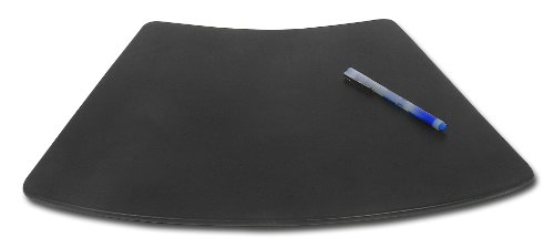 Dacasso Black Leather Conference Table Pad for Round Table, 17 by 14-Inch by Dacasso