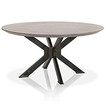 MAKLAINE Round Dining Table In Ash Gray