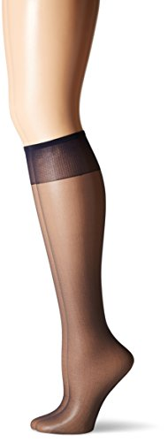 Veils Discount Wedding (Hanes Silk Reflections Women's 2-Pack Knee High Sandalfoot, Class Navy, One Size)