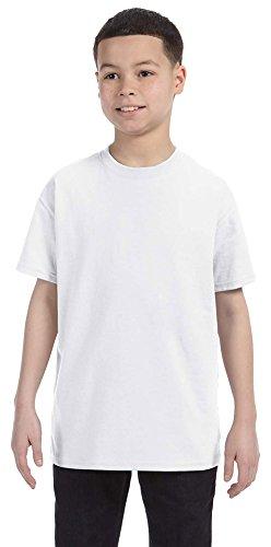 Jerzees Youth 5.6 oz., 50/50 Heavyweight Blend T-Shirt, Medium, WHITE (Jerzees Heavyweight Blend Youth)