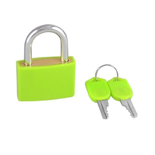 0.5' Luggage Lock - DealMux Rectangle Drawer Cabinet Suitcase Toolbox Padlock Green 32mm w 2 Keys