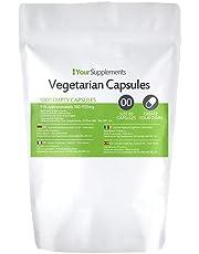 Lege vegetarische capsules | Maat 00 | 1000 stuks