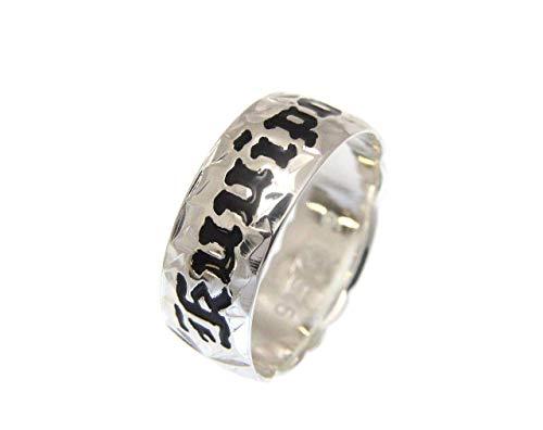 (925 Sterling Silver Hawaiian plumeria scroll black enamel Kuuipo 8mm cut out ring size 4.5)
