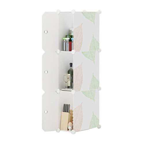 Zhhlinyuan Impermeable El Plastico Armario de Almacenamiento - 2/3 Niveles Tarea Pesada Cube Organizers para Sala de Estar...