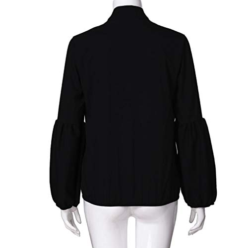 Lanterne Chemisie 4 Col Noir Chic Bringbring Tops Sexy 3 Blouse V Femme Manches wZq8ZxBF4