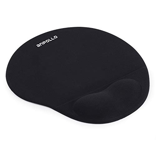 Anpollo Mouse Pad with Gel Wrist Rest Support Small Office Silicone Mice Mat - Black …