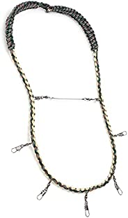 Fly Fishing Lanyard Necklace, Practical Fly Fishing Lanyard with Multi Clips for Fishing Nipper Patch Forcep T