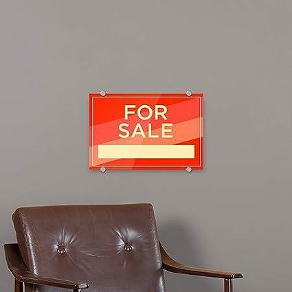 5-Pack for Sale Modern Diagonal Premium Brushed Aluminum Sign 18x12 CGSignLab