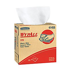 Wypall X70 Wipers Pop-up Box - 9.10in. x 16.80in. - White - Hydroknit - Durable, Absorbent, Strong, Reusable, Embossed - for Multipurpose - 100 Sheets per Box - 100/Box