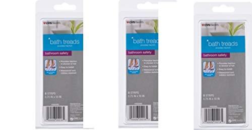 CVS Pharmacy Safety Bathtub Treads 8 Strips(Pack of 3) Total 24 by CVS