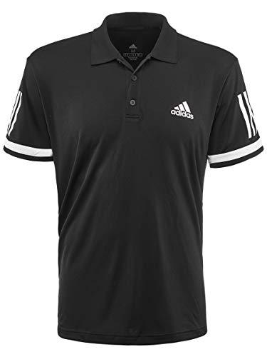 adidas Mens Tennis Club 3-Stripe Polo Black/White Large