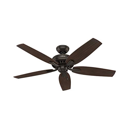Hunter Indoor Ceiling Fan, with pull chain control - Newsome 52 inch, Premier Bronze, 53320