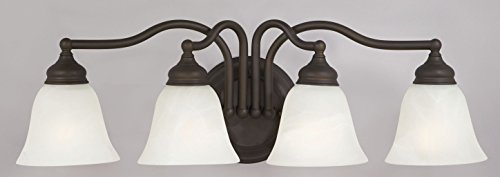 - Feiss VS6701-CH Bristol Alabaster Wall Sconce Lighting