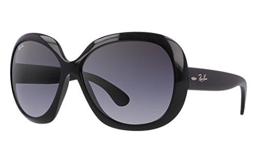 Ray-Ban Women's RB4098 Non-Polarized Jackie OHH II Sunglasses (60 mm, Black Nylon Frame/Gray Gradient Lens)