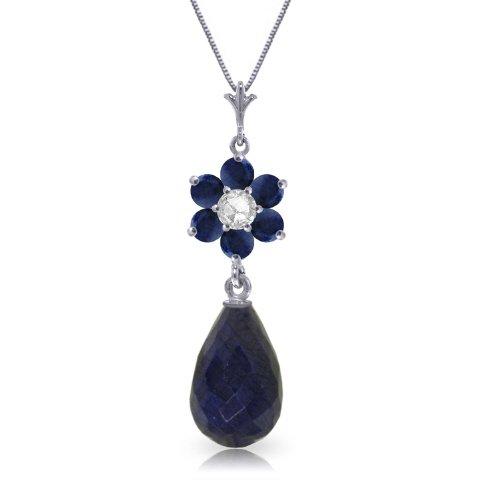Diamond Flower Drop Necklace (14K 20