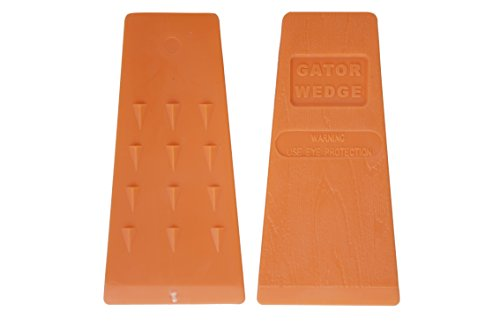 USA Made Gator Wedge 5.5 Inches Felling Wedges Logging Supplies for Chain Saw, 2 (Chain Tree)