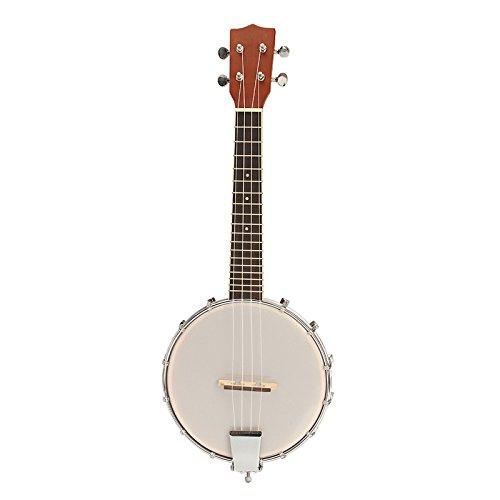 US Warehouse - IRIN 23 Inch Sapele Wood 4 String Banjo Banjolele Concert Size MASLIN