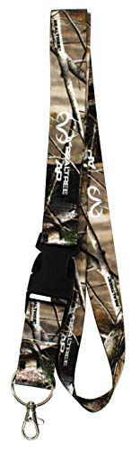 RealTree Camo Pattern Hunting Keychain Breakaway Lanyard with Clasp