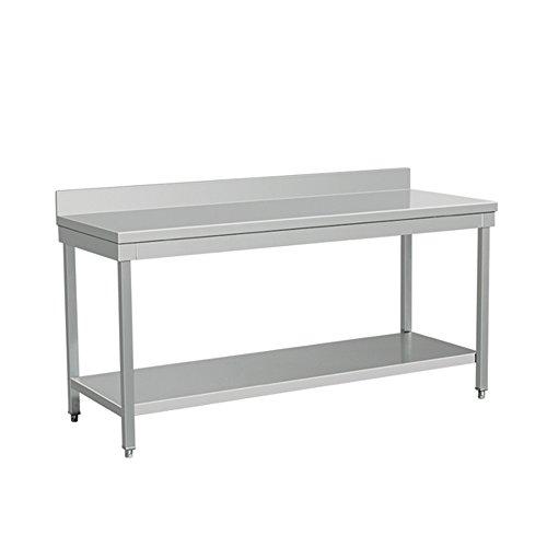 EQ Kitchen Line THATS147A Backsplash Work Surface Table, Bottom Shelf, 34