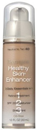 Neutrogena Healthy Skin Enhancer Tinted Moisturizer, Neutral to Tan [40], 1 oz (2 Pack) - 1 Skin Enhancer
