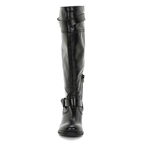Scarpe amp;scarpe Negro 7 Cm Doble Con Tacones Hebilla Alesya Botas De Piel qZBdZw4Pg