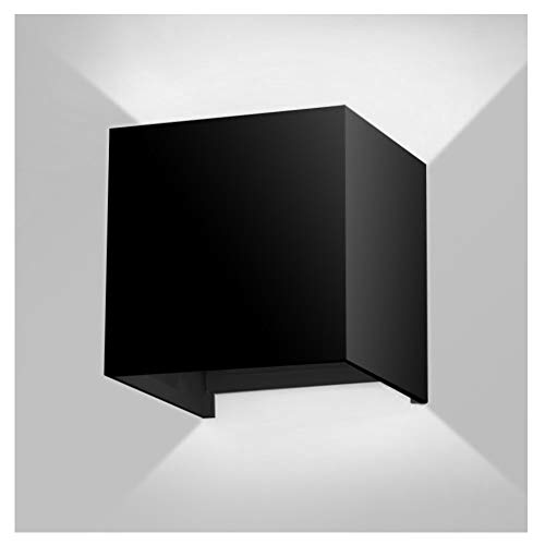 7W LED Wall Sconce Light,Modern Minimalist Dimmable,Adjustable Light Angle,Aluminum Indoor/Outdoor Wall Porch/Exterior Lights,3 Year Warranty by INHDBOX