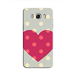 Cover It Up Love spotted Hard Case For Samsung Galaxy J5, Multi Color