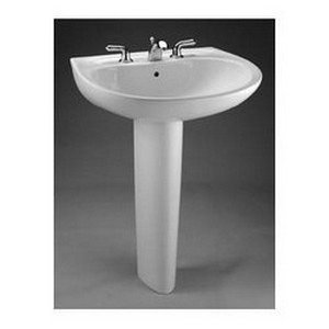 TOTO LPT241.8G#01 Supreme Lavatory and Pedestal with 8-Inch Centers, Cotton - Inch 8 Lavatory Pedestal