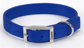 Coastal Pet Products DCP290120BLU Nylon Double Dog Collar, 1 by 20-Inch, Blue