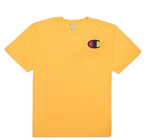 Champion Retro Men's Big and Tall Retro C Graphic Heritage T-Shirt Gold - Male Retro
