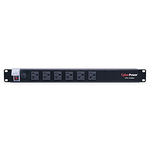 CyberPower CPS1220RM Basic PDU, 120V/20A, 12 Outlets, 15ft Power Cord, 1U Rackmount