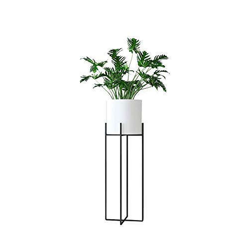 JOANNA'S HOME White Planter with Stand Tall Modern Plant Stand Indoor Outdoor Decoration Potted Plant Stand for Multiple Plants 27 Inch - White (Stand Plant Elevated)