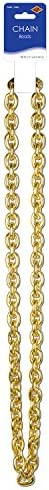 Chain Beads (gold) Party Accessory  (1 count) (1/Card) – The Super Cheap