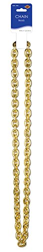 Chain Beads (gold) Party Accessory  (1 count) (1/Card) for $<!--$3.80-->