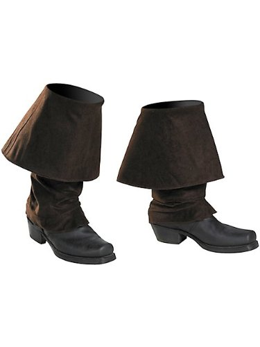 [Disguise Men's Disney Of The Caribbean Pirates Adult Boot Covers Costume Accessory, Brown, One Size] (Pirate Costumes Boot Covers)
