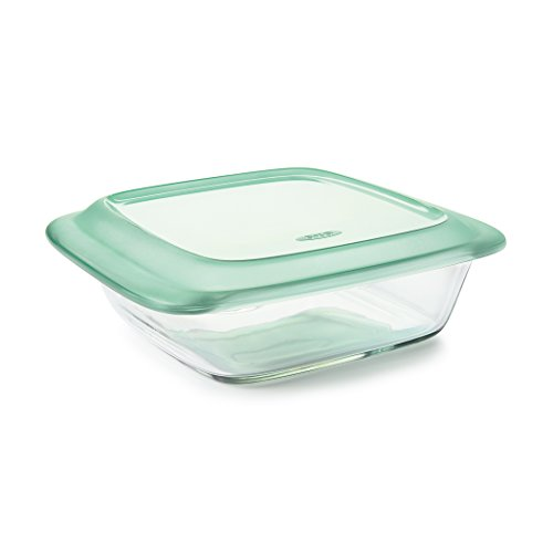OXO Good Grips Freezer-to-Oven Safe 2 Qt Glass Baking Dish with Lid, 8 x 8
